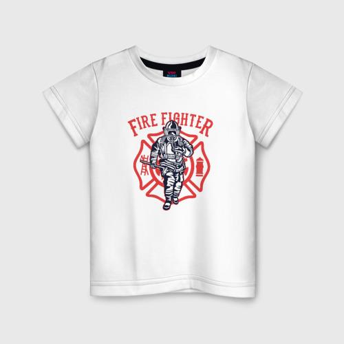 Детская футболка хлопок Fire fighter