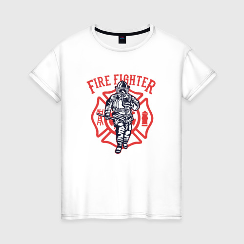 Женская футболка хлопок Fire fighter