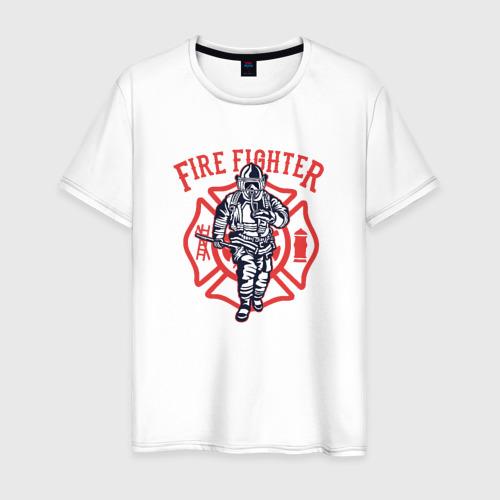 Мужская футболка хлопок Fire fighter