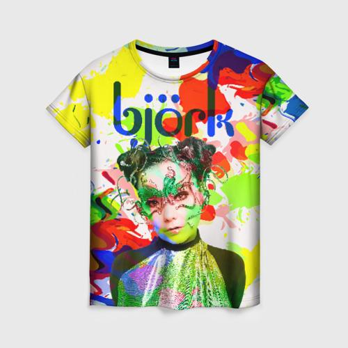 Женская футболка 3D Bjork
