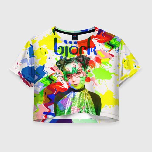 Женская футболка Crop-top 3D Bjork