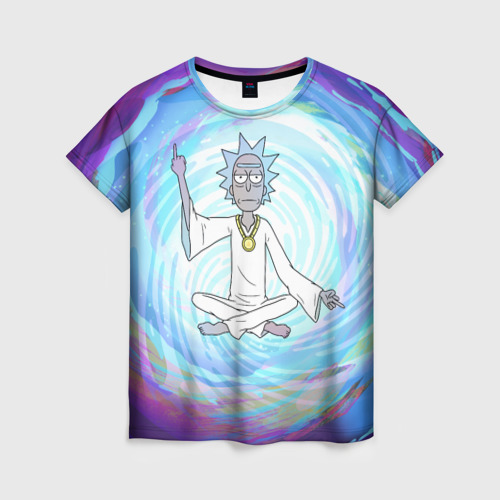Женская футболка 3D  Rick in nirvana