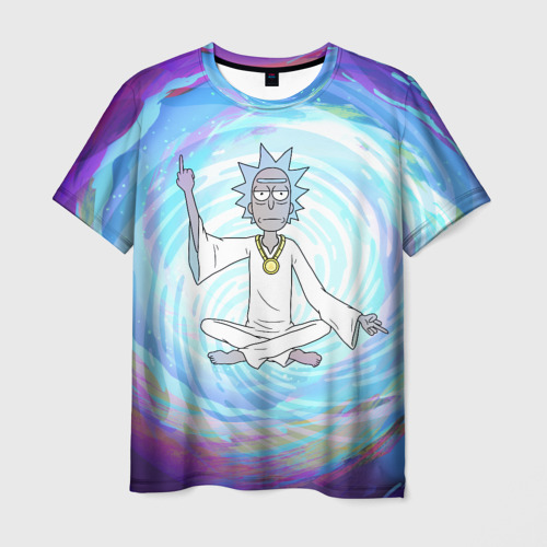 Мужская футболка 3D  Rick in nirvana