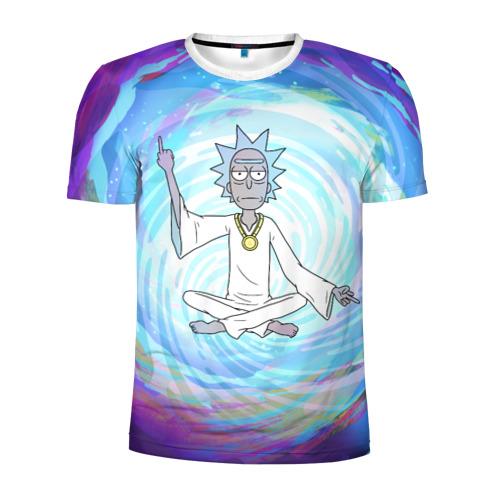 Мужская футболка 3D спортивная  Rick in nirvana