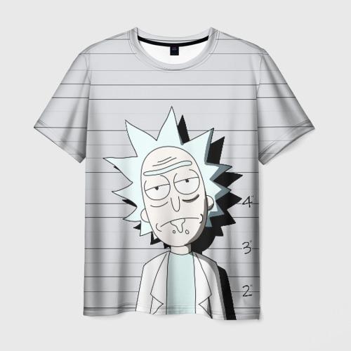 Мужская футболка 3D Rick is in prison