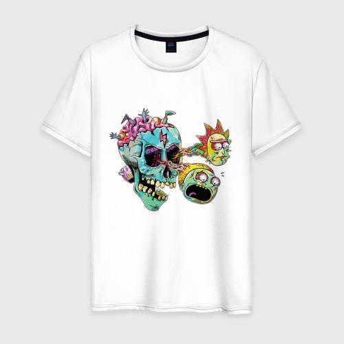 Мужская футболка хлопок Монстры Рик и Морти