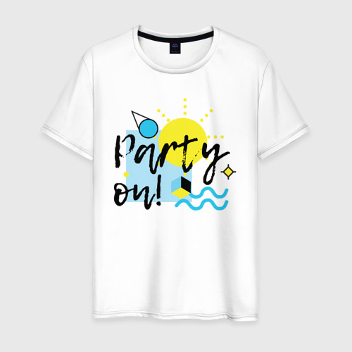 Мужская футболка хлопок Party on