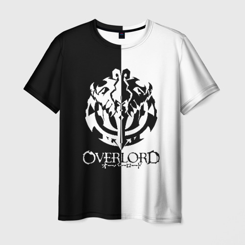 Мужская футболка 3D ЧБ оверлорд