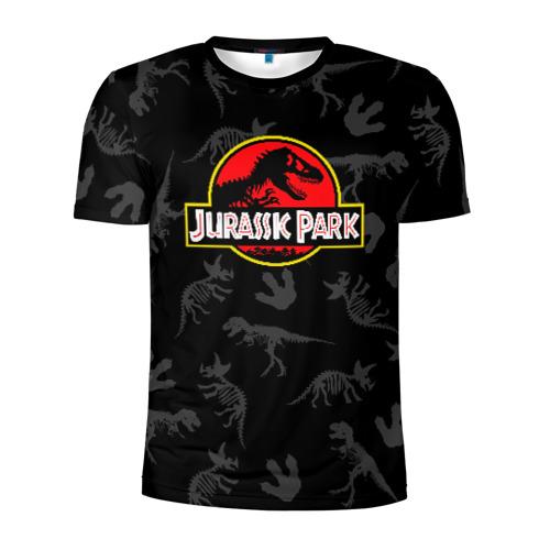 Мужская футболка 3D спортивная Парк Юрского Периода