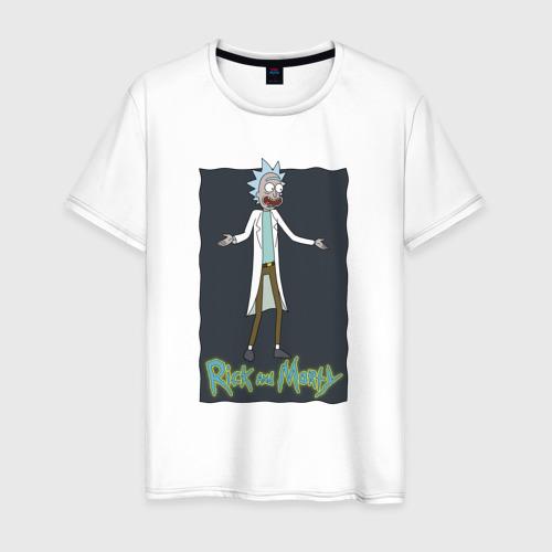 Мужская футболка хлопок  Rick Sanchez
