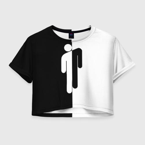 Женская футболка Crop-top 3D BILLIE EILISH