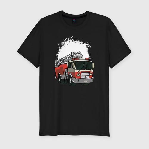 Мужская футболка хлопок Slim Пожарная Машина
