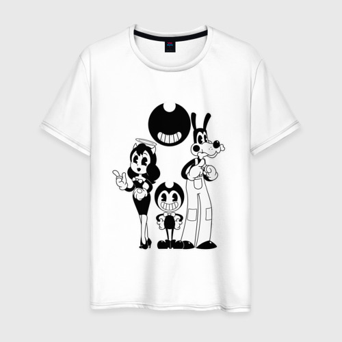 Мужская футболка хлопок Bendy And The Ink Machine (48)