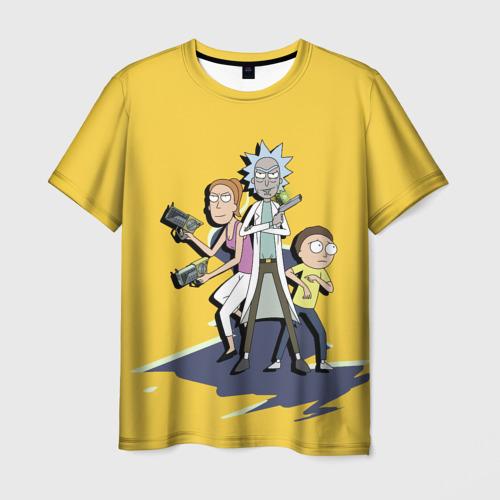 Мужская футболка 3D Summer, Rick, Morty