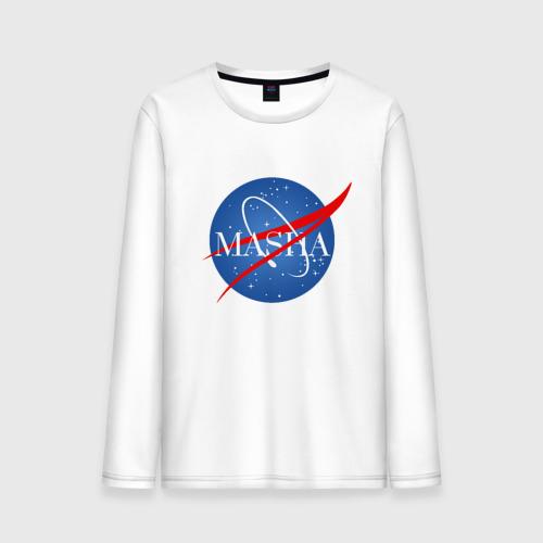 Мужской лонгслив хлопок Имя в стиле NASA