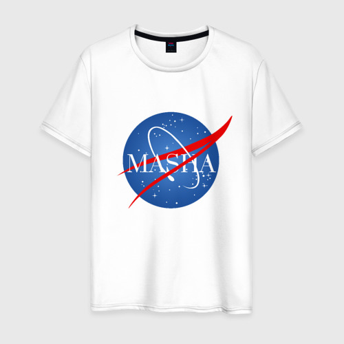 Мужская футболка хлопок Имя в стиле NASA