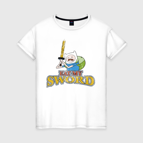 Женская футболка хлопок Eat my sword