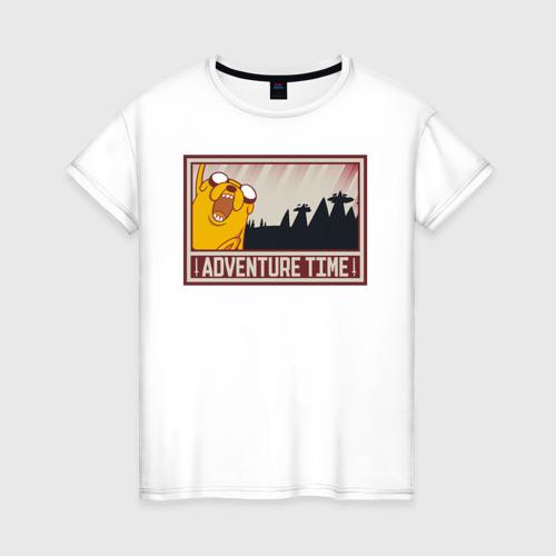 Женская футболка хлопок Adventure time