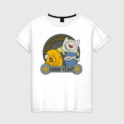Женская футболка хлопок Awww yeah!
