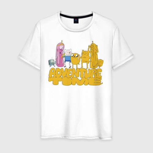 Мужская футболка хлопок Adventure time