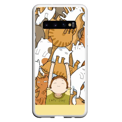 Чехол для Samsung Galaxy S10 Котики