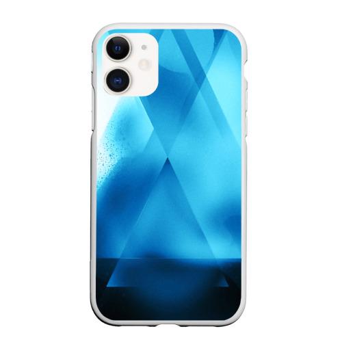 Чехол для iPhone 11 матовый ABSTRACT BLUE
