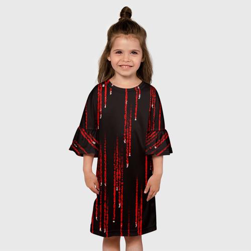 Детское платье 3D МАТРИЧНЫЙ КОД