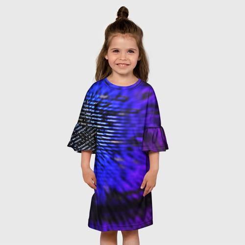 Детское платье 3D НЕОНОВЫЙ КОД