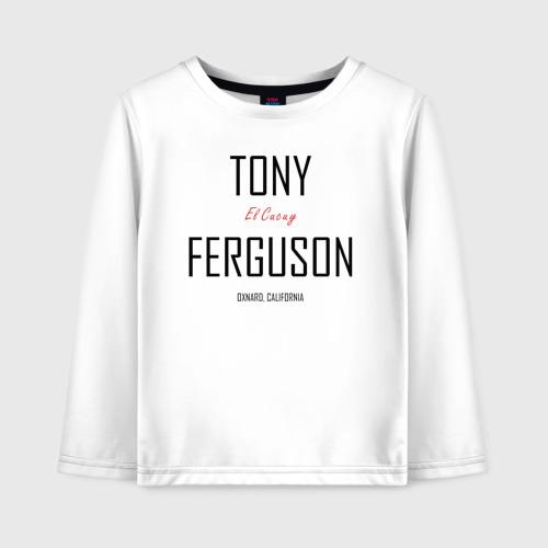 Детский лонгслив хлопок Tony Ferguson