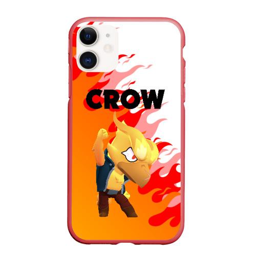 Чехол для iPhone 11 матовый BRAWL STARS CROW PHOENIX