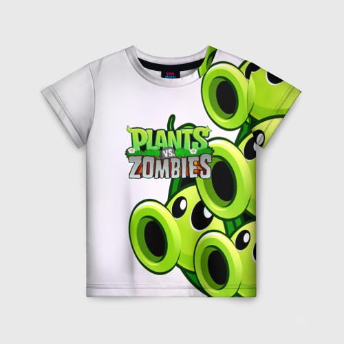 Детская футболка 3D РАСТЕНИЯ против ЗОМБИ