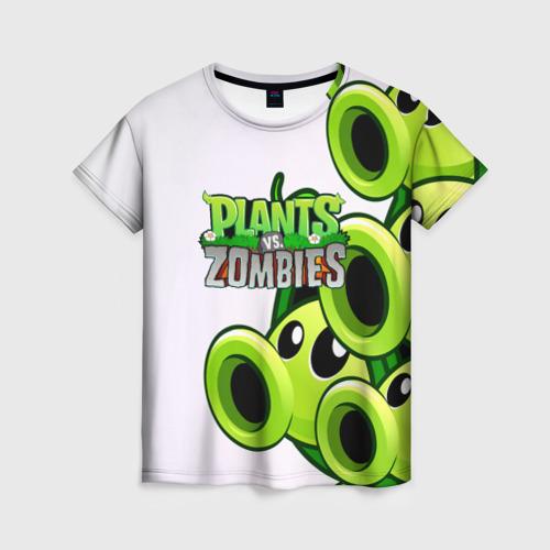 Женская футболка 3D РАСТЕНИЯ против ЗОМБИ