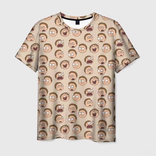 Мужская футболка 3D Эмоции Морти
