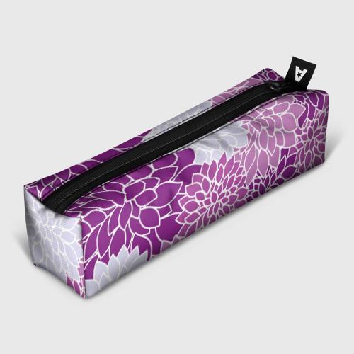 Пенал школьный 3D Фиолетовые цветы
