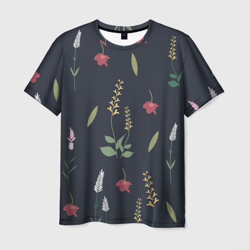 Мужская футболка 3D Цветочный миф