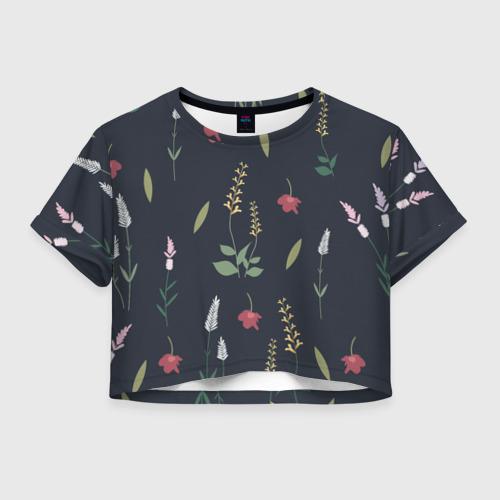 Женская футболка Crop-top 3D Цветочный миф