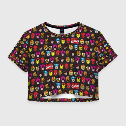 Женская футболка Crop-top 3D MARVEL Comics