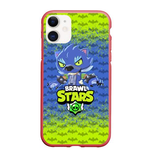 Чехол для iPhone 11 матовый BRAWL STARS LEON ОБОРОТЕНЬ.