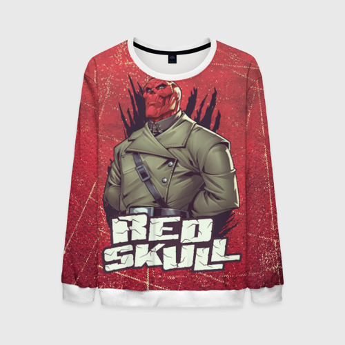 Мужской свитшот 3D Red Skull