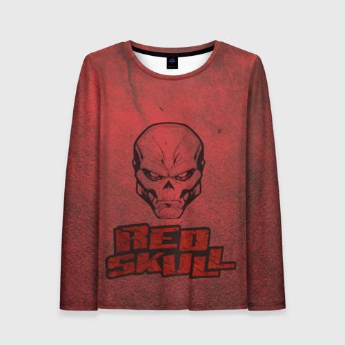 Женский лонгслив 3D Red Skull