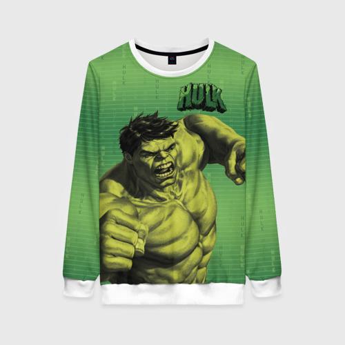 Женский свитшот 3D Hulk
