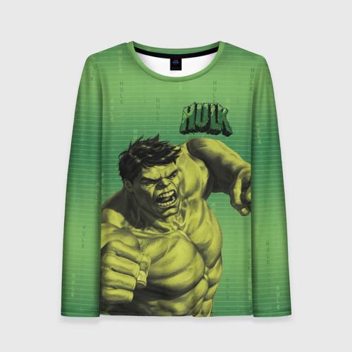 Женский лонгслив 3D Hulk
