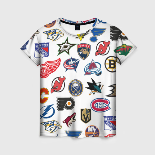 Женская футболка 3D NHL PATTERN