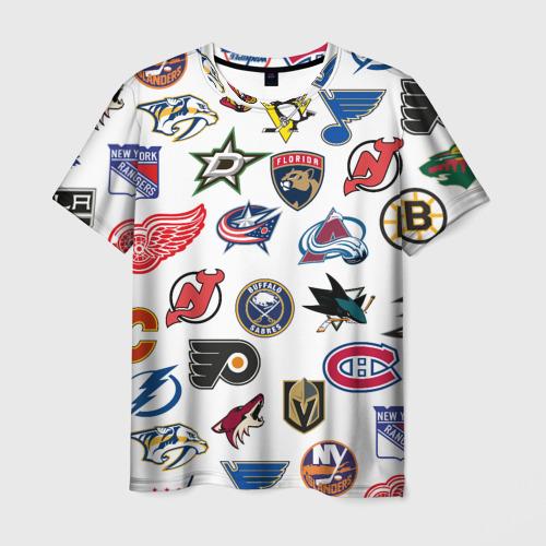 Мужская футболка 3D NHL PATTERN