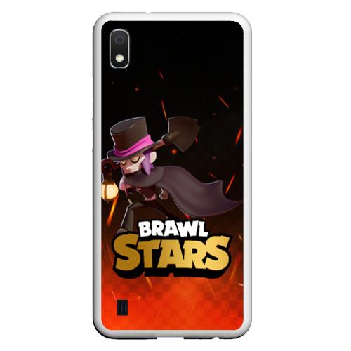 Чехол для Samsung Galaxy A10 Brawl stars Mortis Мортис