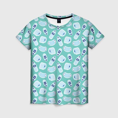 Женская футболка 3D Комплект для выживания