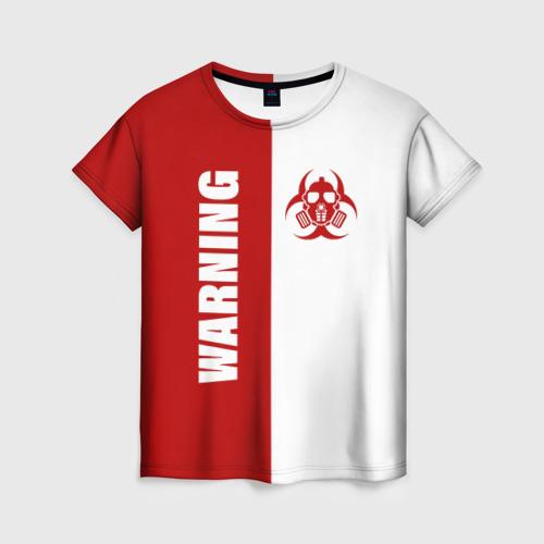 Женская футболка 3D Warning Virus