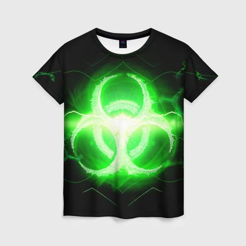 Женская футболка 3D Биологическая Опасность (Oko)