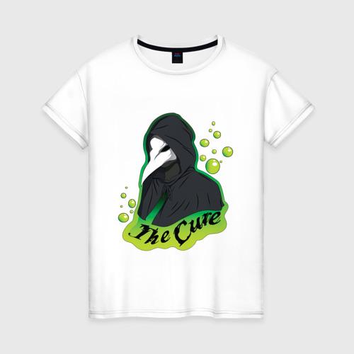 Женская футболка хлопок Лечение от вируса