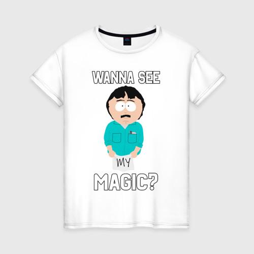 Женская футболка хлопок Петушковая магия